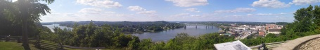 A panoramic view of the Parkersburg area from the site of Fort Boreman,